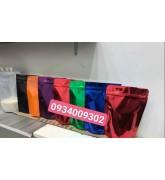 Túi nhôm 3 biên zipper nhiều màu