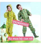 Áo mưa đồ bộ trẻ em