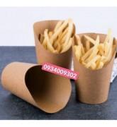Ly giấy kraft đựng khoai tây chiên