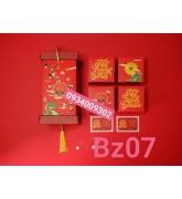 Hộp bánh trung thu 4 bánh giá rẻ mẫu mới 2021-Bz07