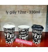 Ly giấy đen espresso coffee