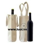 Túi vải cotton đựng rượu