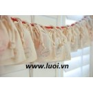 Túi vải cotton dây rút