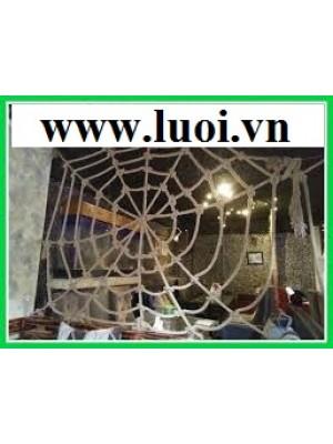 Dây thừng làm mạng nhện trang trí