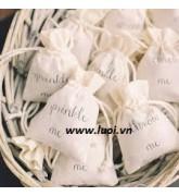Túi vải cotton đựng hoa khô(nhiều size)