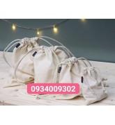 Túi vải cotton dây rút giá rẻ