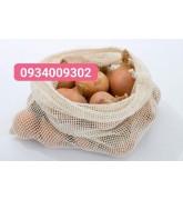 Túi lưới cotton dây rút giá rẻ