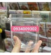 Hộp nhựa tròn đựng bánh taramisu 360ml