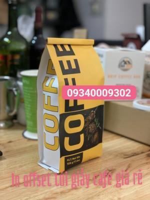 In ofset  túi cafe giá rẻ