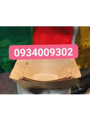 Khay giấy kraft đựng thức ăn giá rẻ