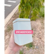 Hũ nhôm đựng bột trà xanh