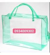 Túi nhựa pvc màu có quai xách giá rẻ