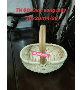 Giỏ tre oval song mây