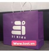 Túi giấy dây giấy màu tím