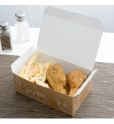 In hộp giấy kraft đựng gà rán giá rẻ