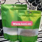Túi zipper nhôm màu có cửa sổ giá rẻ