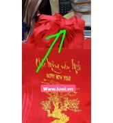 Túi vải in chúc mừng năm mới giá sỉ