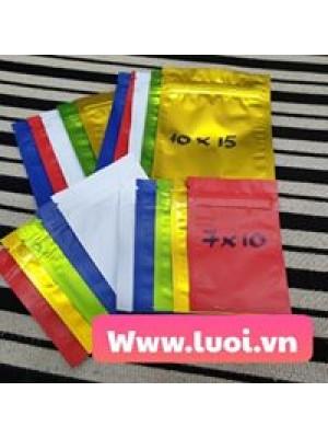 Túi zipper nhiều màu 10x15 giá rẻ