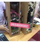 Hộp giấy kraft đựng hoa tươi