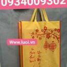 Túi vải đựng hộp quà tết 30x40 màu vàng