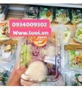 Hộp nhựa đựng salad giá rẻ