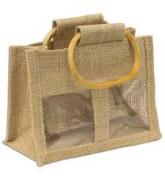 Túi bố quai xách có mặt kiếng 2 ngăn