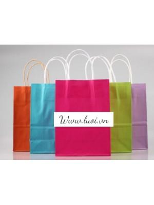 Túi giấy quai giấy nhiều màu giá rẻ