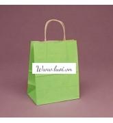 Túi giấy quai giấy màu xanh