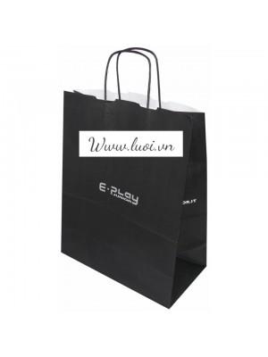Túi giấy quai giấy màu đen