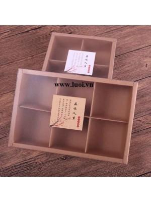 Hộp giấy mặt kiếng mờ 4 ngăn và 6 ngăn