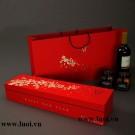 Bộ hộp giấy và túi giấy đựng rượu