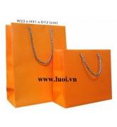 Túi giấy cam đựng quà tết