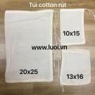 Túi vải cotton dây rút lọc trà và coffee