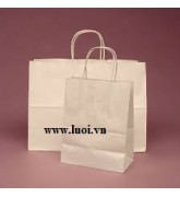 Túi giấy kraft trắng dây giấy