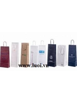 Túi giấy dây giấy đựng rượu giá rẻ