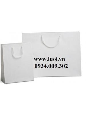 Túi giấy trắng cán mờ