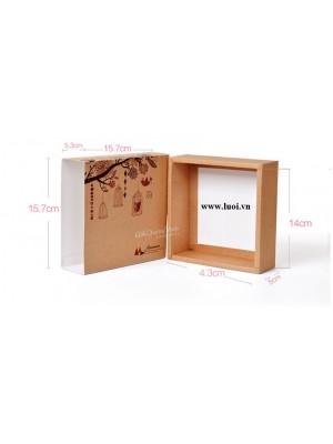 Hộp bánh trung thu giấy kraft 01